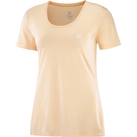 Salomon Agile Koszulka z krótkim rękawem Kobiety, almond cream/nude/heather